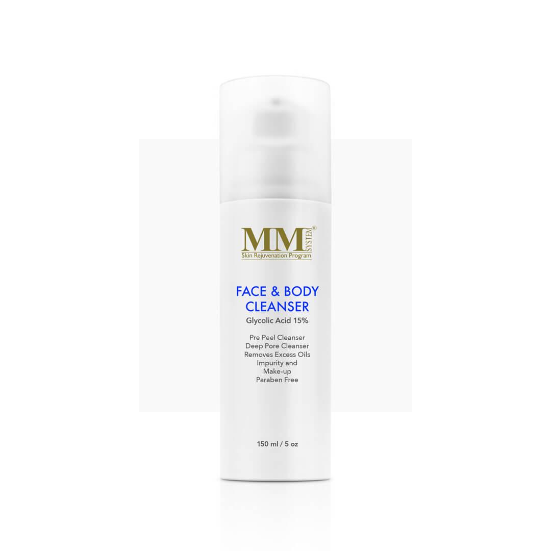 Mene & Moy System Face & Body Cleanser 15% -  150ml - Очищающий гель для лица и тела с гликолевой кислотой (15%) | DoctorProffi.ru